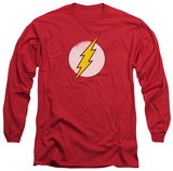 Long Sleeve: The Flash - Rough Flash Logo T-shirts