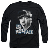 Long Sleeve: The Three Stooges - Moe Face T-Shirt