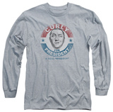 Long Sleeve: The Three Stooges - Curly For President Shirts