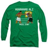 Long Sleeve: Muhammad Ali - 8 Bit Muhammad Ali T-Shirt
