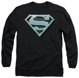 Long Sleeve: Superman - Chrome Shield T-shirts