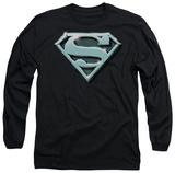Long Sleeve: Superman - Chrome Shield T-shirts