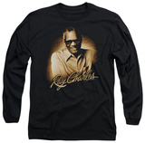 Long Sleeve: Ray Charles - Sepia T-shirts