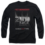 Long Sleeve: Pet Semetary - Cat Poster T-Shirt
