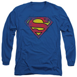 Long Sleeve: Superman - Destroyed Supes Logo Shirt