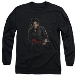 Long Sleeve: The Vampire Diaries - Damon T-Shirt