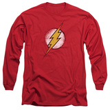 Long Sleeve: The Flash - Destroyed Flash Logo T-shirts