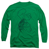 Long Sleeve: Popeye - Spinach Strong T-shirts