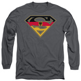 Long Sleeve: Superman - German Shield T-shirts