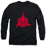 Long Sleeve: Star Trek - Klingon Logo T-Shirt