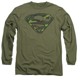 Long Sleeve: Superman - Distressed Camo Shield T-shirts
