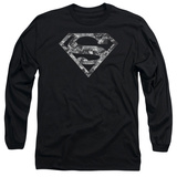 Long Sleeve: Superman - Urban Camo Shield Long Sleeves