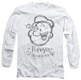 Long Sleeve: Popeye - Sketch Portrait Shirts