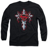 Long Sleeve: Superman - Gothic Steel Logo T-shirts