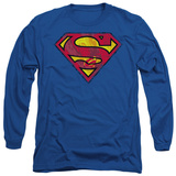 Long Sleeve: Superman - Action Shield T-Shirt