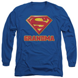 Long Sleeve: Superman - Super Grandma T-shirts