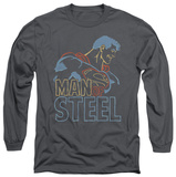 Long Sleeve: Superman - Colored Lines T-Shirt