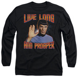 Long Sleeve: Star Trek - Live Long And Prosper T-Shirt