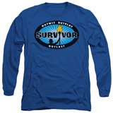 Long Sleeve: Survivor - Blue Burst T-Shirt