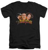The Three Stooges - Three Head Logo V-Neck T-shirts