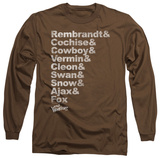 Long Sleeve: The Warriors - Roster T-shirts