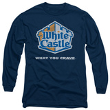 Long Sleeve: White Castle - Distressed Logo T-shirts