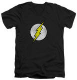 The Flash - Flash Logo Distressed V-Neck Shirt