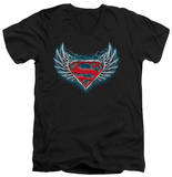 Superman - Steel Wings Logo V-Neck V-Necks