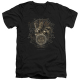 Sun Records - Scroll Around Rooster V-Neck T-Shirt