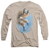 Long Sleeve: Wildlife - Morning Reflections Canada Geese T-shirts