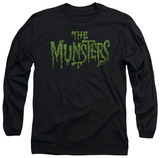 Long Sleeve: The Munsters - Distress Logo T-shirts