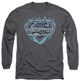 Long Sleeve: Superman - Man Of Steel Shield T-shirts