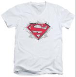 Superman - Hastily Drawn Shield V-Neck T-Shirt