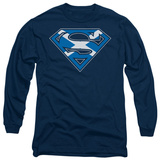 Long Sleeve: Superman - Scottish Shield T-shirts