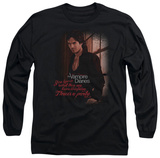 Long Sleeve: The Vampire Diaries - Threes A Party T-shirts