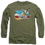 Long Sleeve: Top Gun - Distressed Logo T-shirts
