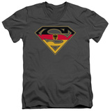 Superman - German Shield V-Neck T-shirts