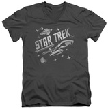 Star Trek - Through Space V-Neck T-shirts
