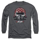 Long Sleeve: Top Gun - Goose Helmet T-Shirt