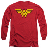 Long Sleeve: Wonder Woman - Wonder Woman Logo Dist T-shirts