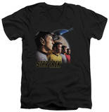 Star Trek - Forward To Adventure V-Neck T-shirts