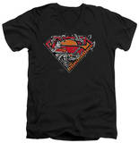 Superman - Breaking Chain Logo V-Neck Shirts