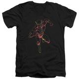 The Flash - Neon Flash V-Neck Shirts