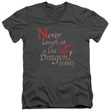 The Hobbit: The Desolation of Smaug - Never Laugh V-Neck Shirts