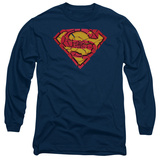 Long Sleeve: Superman - Shattered Shield T-shirts