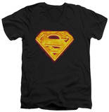 Superman - Hot Steel Shield V-Neck Shirts