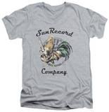 Sun Records - Rockin Rooster Logo V-Neck T-Shirt