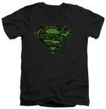 Superman - Circuits Shield V-Neck Shirts
