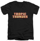 Tropic Thunder - Title V-Neck T-Shirt