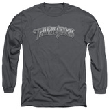 Long Sleeve: The Three Stooges - Metallic Logo T-Shirt